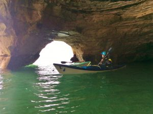 the gales storm gathering sea cave paddling